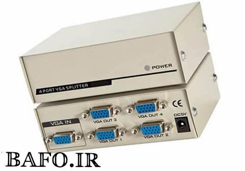 اسپلیتر ۱ به ۴ پورت VGA بافو BAFO BF-H234 500Mhz