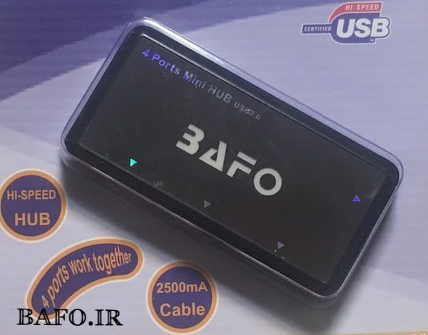 هاب ۴ پورت USB بافو 302